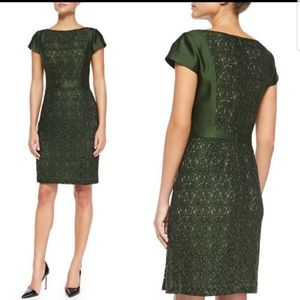 Tory Burch Mariana dress in shimmery jacquard with